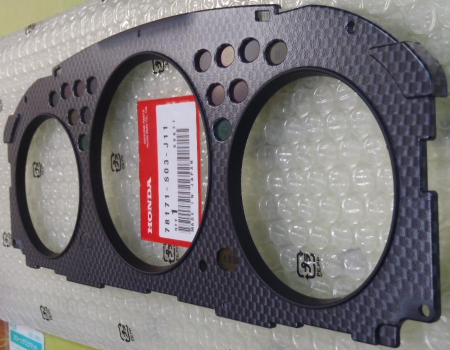 HONDA CIVIC TYPE R EK9 VISOR ASSY METER UNDER PANEL 78171-S03-J11 CARBON-LIKE   eBay