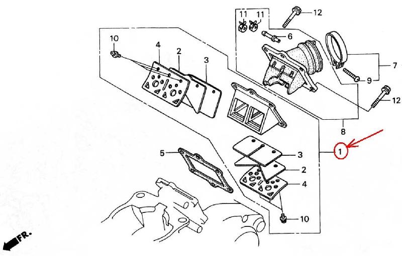 Honda Crm250ar Md32 Reed Valve Assy 14100 Kae 771 Activated Radicals