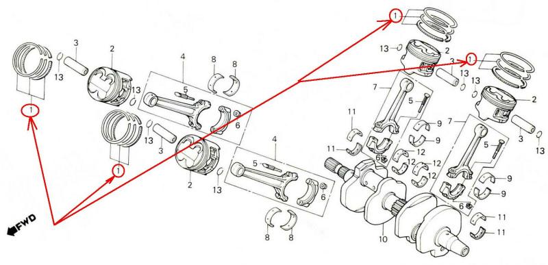 Honda vfr400z vfr400r nc21 vfr400rh nc24 one bike ring set 13011 mv4 contact us for more details now swarovskicordoba Choice Image
